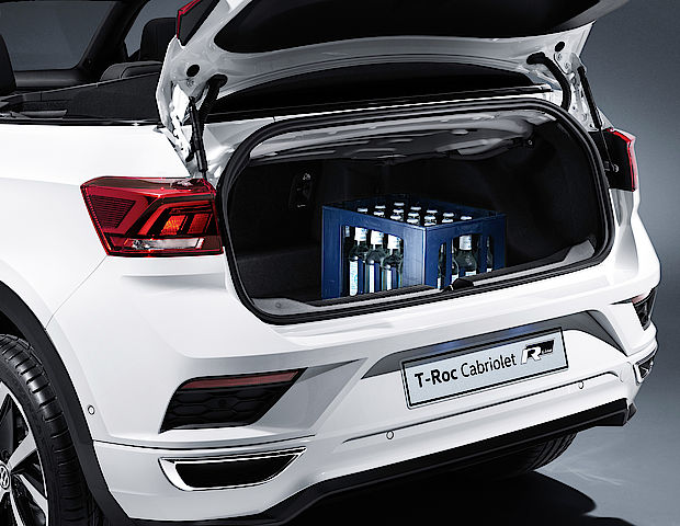 Kofferraum des Volkswagen T-Roc Cabriolets