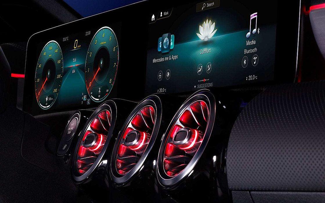 Mercedes-Benz CLA volldigitales Instrumentendisplay