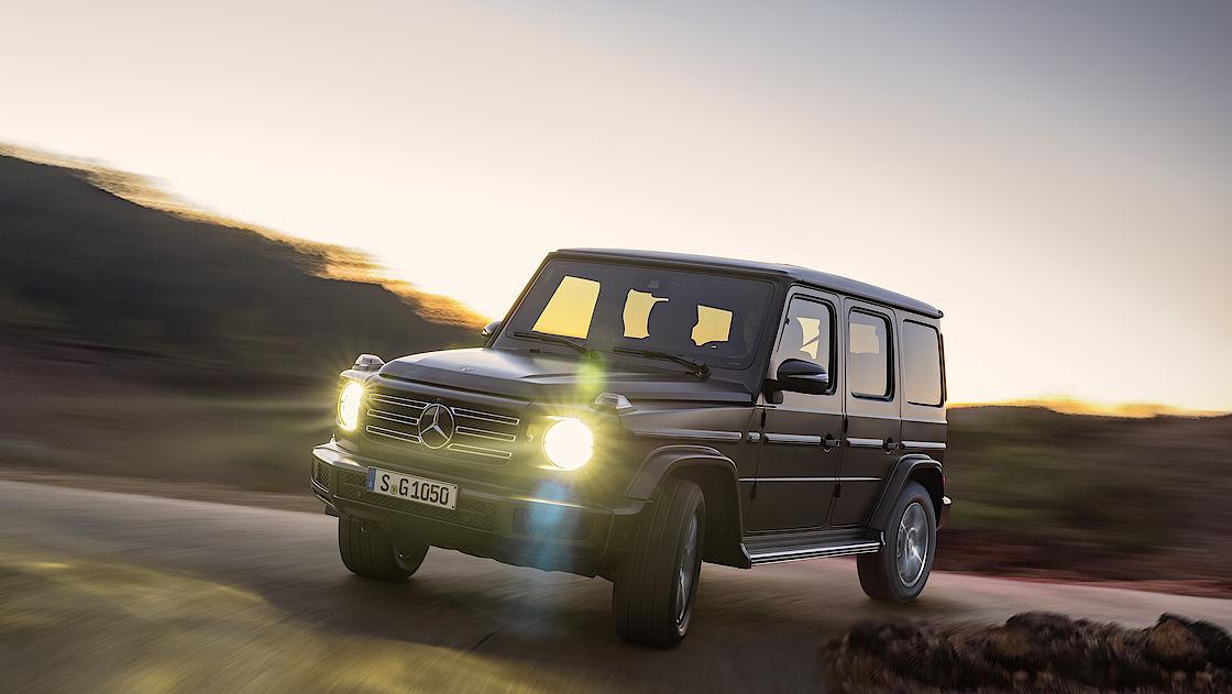 Eine Ikone mit runden Scheinwerfern: Mercedes G