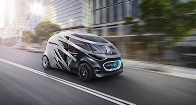 Vision Urbanetic als Ride-Sharing-Fahrzeug