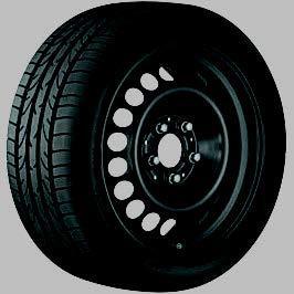 Stahl-Winterkomplettrad schwarz Bridgestone Blizzak LM32 MO