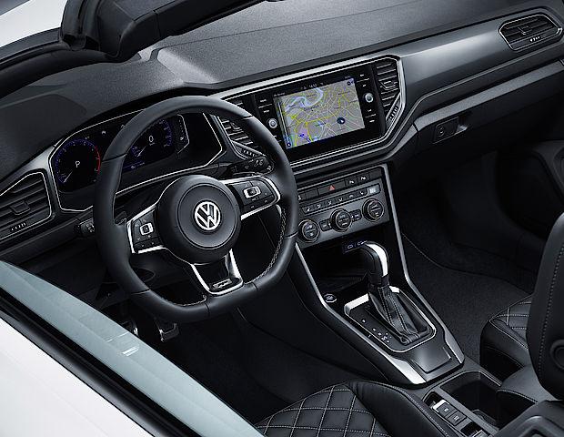 Interieur des Volkswagen T-Roc Cabriolets