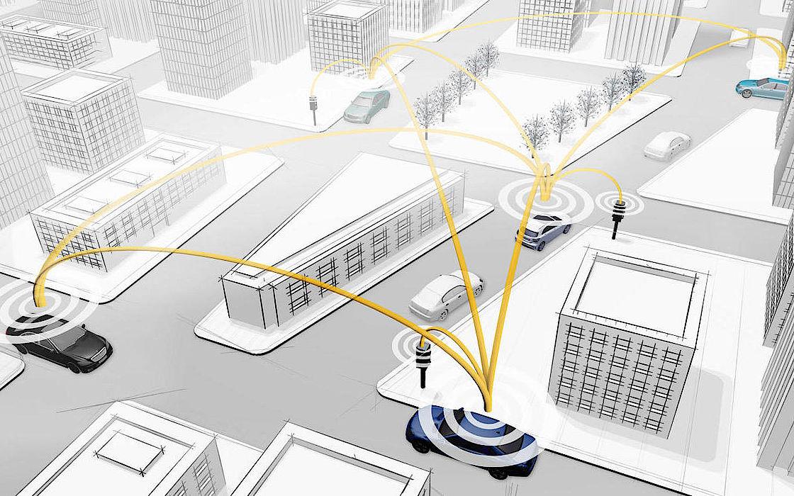 Car to X Kommunination von Mercedes-Benz als Konnektivitätslösung