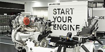 AMG Vierzylinder Turbomotor neu bei Senger