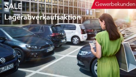 Volkswagen Neufahrzeug Lagerwagen Aktion