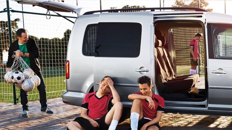 VW Caddy in der Freizeit