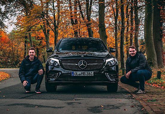 Heiko und Holger mit dem GLC zur Abholung der neuen A-Klasse