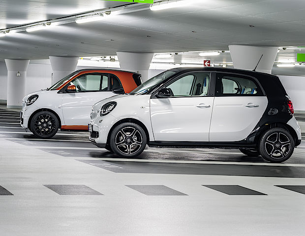- smart ready to park - smart service - Parkplatzsuche