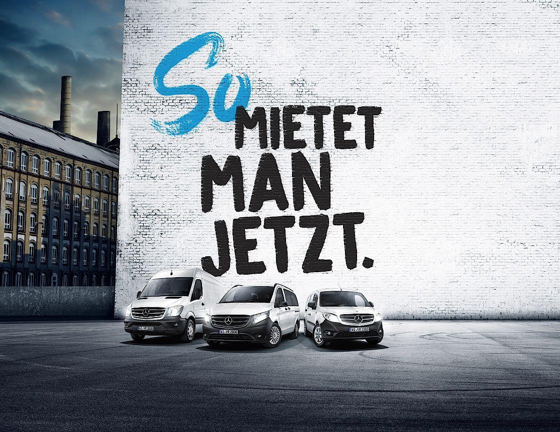 Transporter mieten über Mercedes-Benz Van Rental