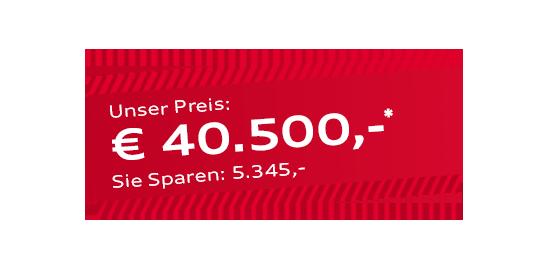 Audi A5 Sportback g-tron für 40.500 Euro