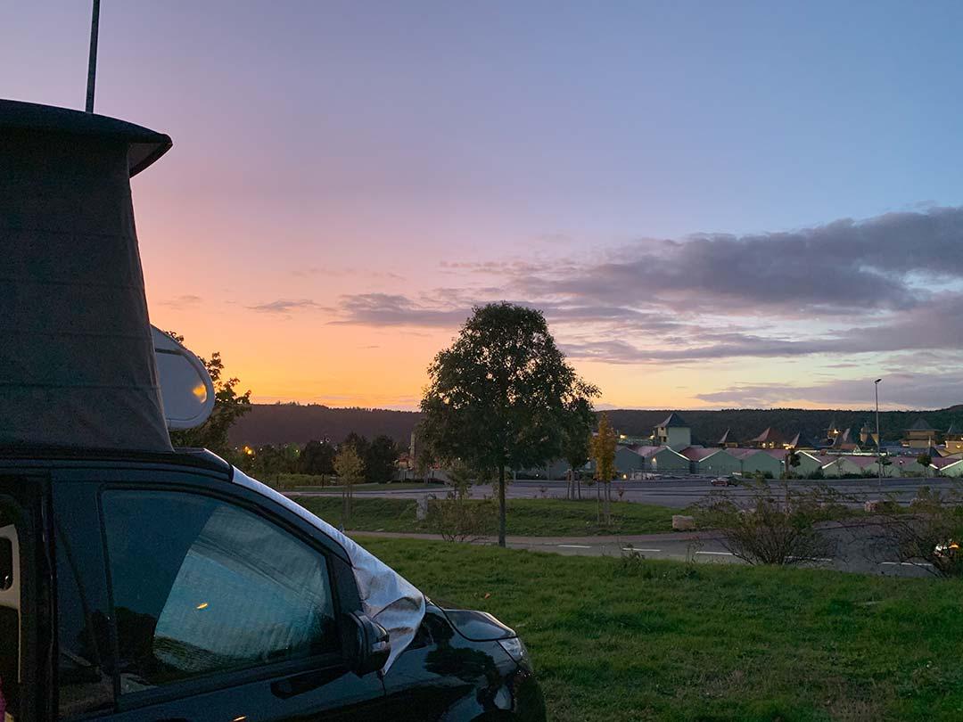 Sonnenuntergang aus dem Marco Polo genießen